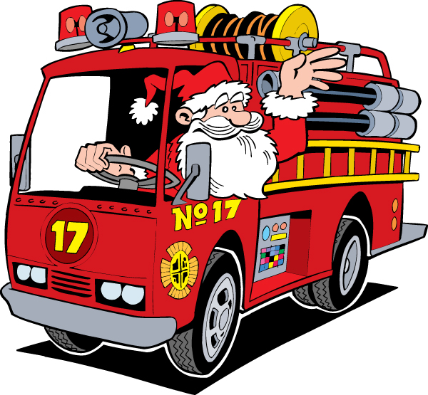 Image result for santa and firetrucks