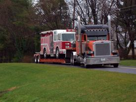 engine 134 leaves for a new home gamber community fire company