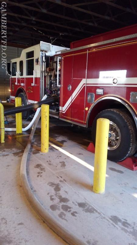 Gamber Engine 131 drafts water from the underground pit while testing its pump