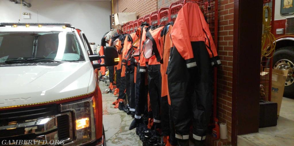 Dive and rescue gear drying off at the station next to Utility 13.