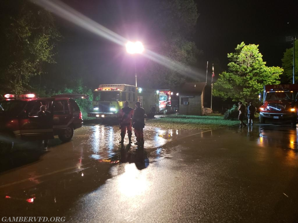 Carroll County units staging in the Avalon section of Patapsco State Park, Howard County. Team members searched for possible victims swept away during the flash flooding in the Ellicott City area.