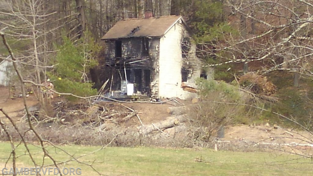 A view of the house after the fire.