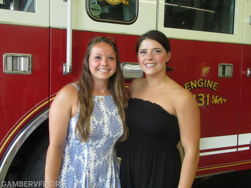 Gamber & Community Fire Co. scholarship winners are Makenzie Leppert (l) and Gailynn Petry.