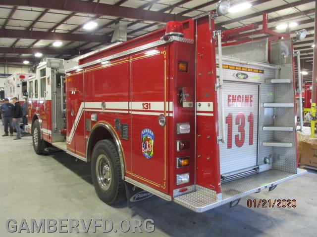 Engine 131 after arriving at the shop.