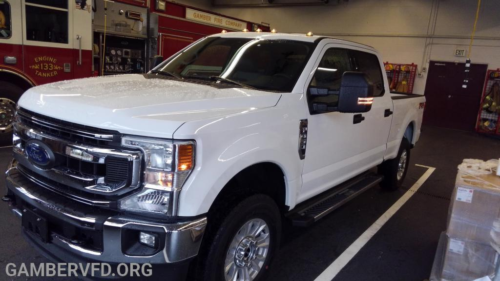 The new Ford F-350 pickup after delivery in late February.