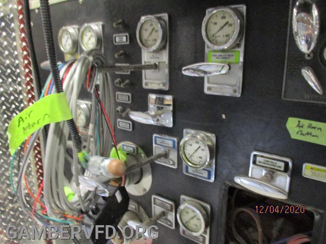 Some pump panel work still being done.