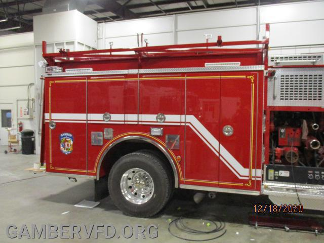 Looks to be right side of pumper body graphics are done