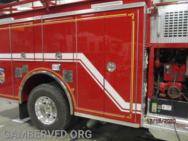 Right side of pumper body