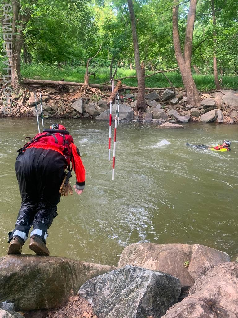 CC ATR Member Chris Fry leaping in for a live bait rescue