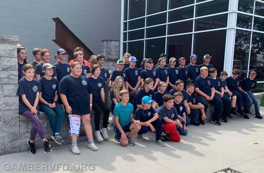 Juniors from ten Carroll County fire companies pose for a group photo.